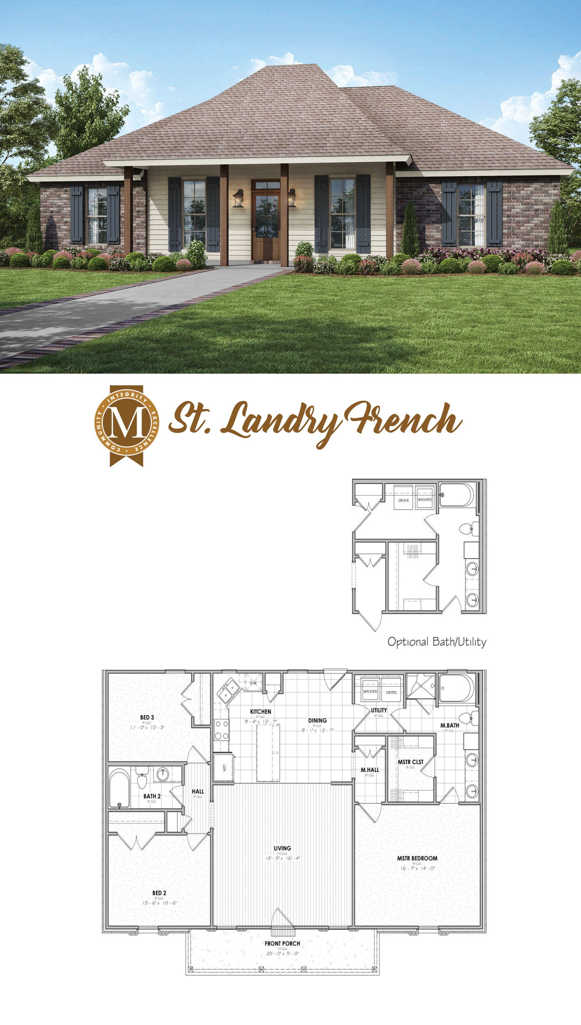 St Landry French Floor Plan Acadian House Plans House Plans New House Plans