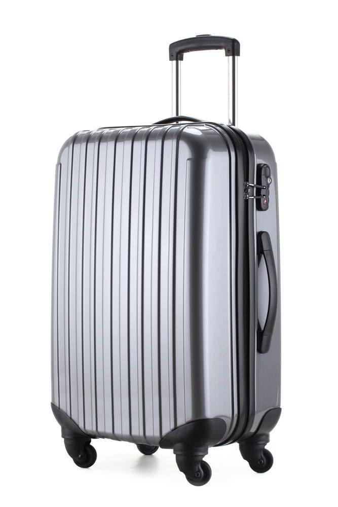 Ambassador® Ultra Light Suitcase Glossy 20'' Carry On Luggage ...
