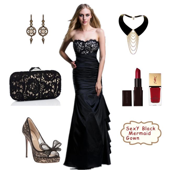 Accessories in black dress | Wedding dress | Pinterest | Prom ...