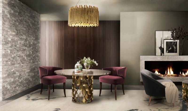 Gobi Contemporary Rug Complements This Beautiful Dining Area In A Extraordinary Big Living Room Designs Design Decoration