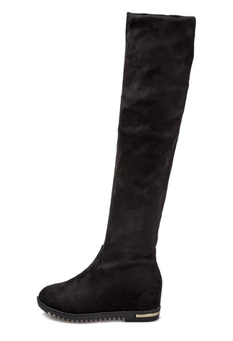 Womens Classy Foldable Knee High Boots