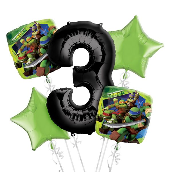 Teenage Mutant Ninja Turtles Party Supplies 3rd Birthday TMNT Balloon Bouquet Decorations