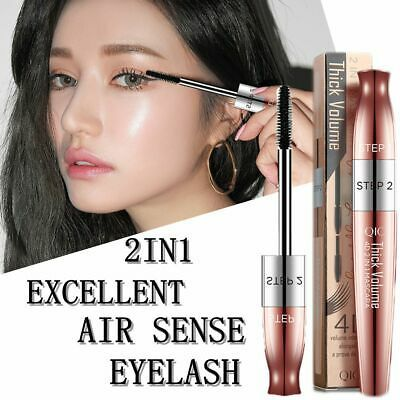 Longlasting Waterproof Eye Makeup Tool 2 In1 Mascara Extension Eyelash Curling