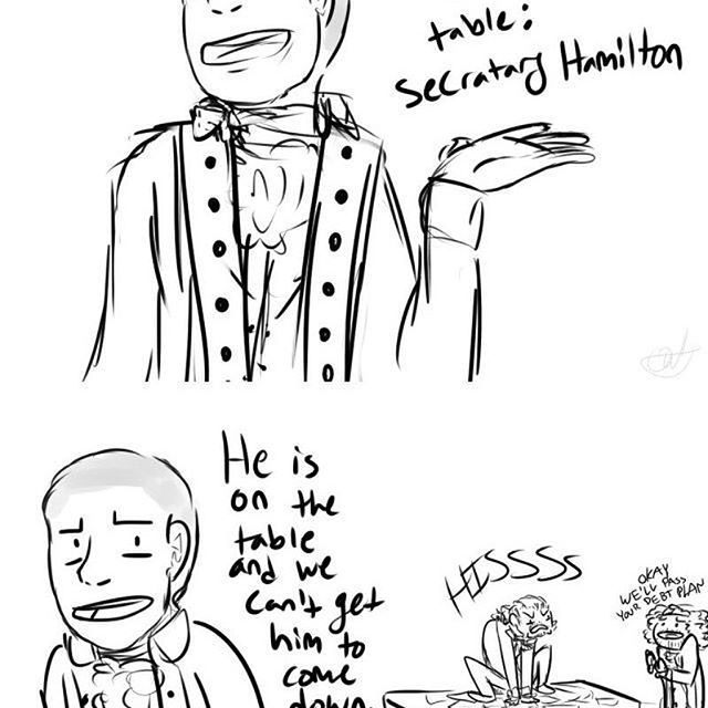 hisss #hamilton #linmanuelmiranda #jonathangroff #alexanderhamilton #hamiltonanamericanmusical #daveeddiggs #thomasjefferson #lafayette #aaronburr #anthonyramos #schuylersisters #phillipasoo #hamiltonmemes #trash