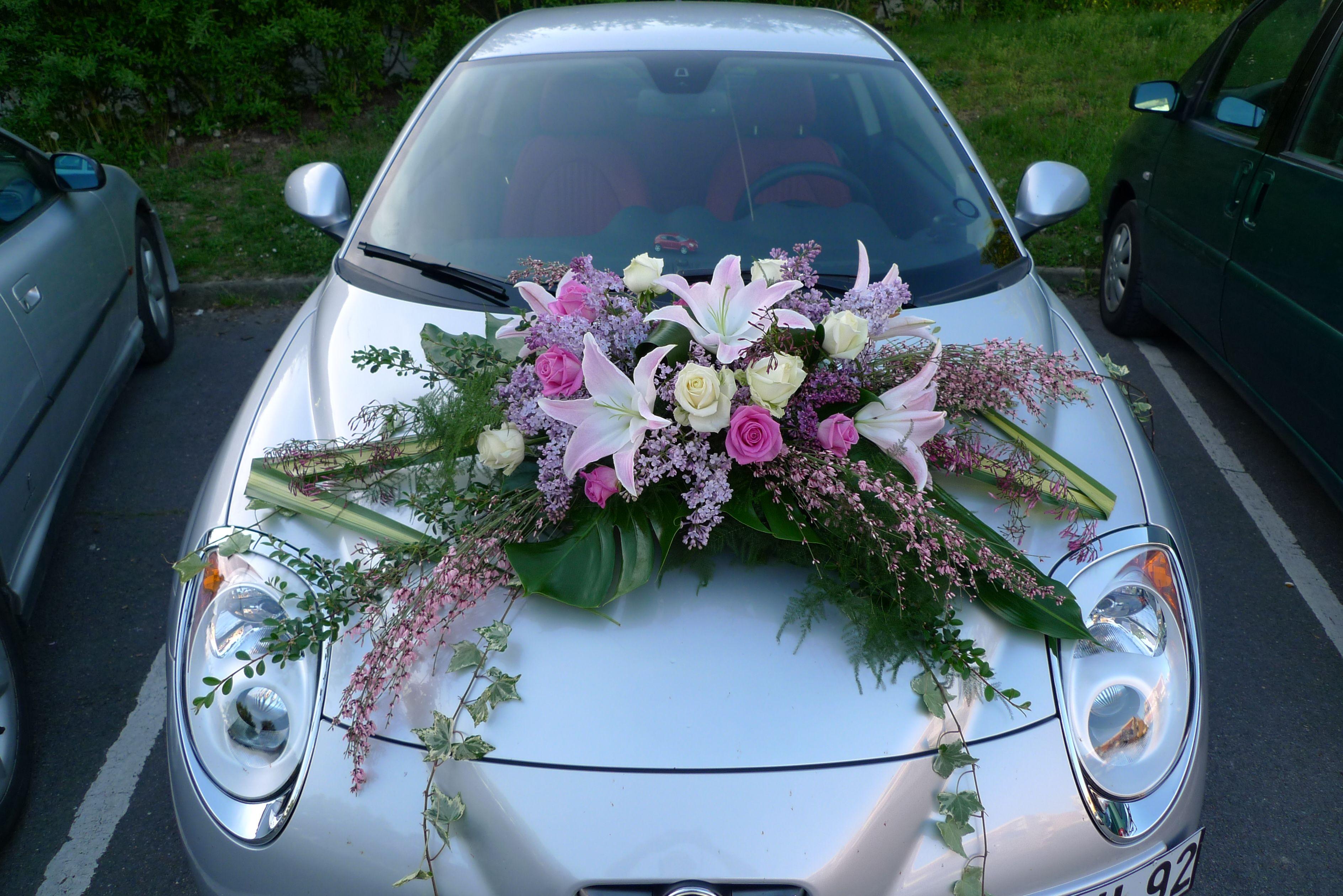 Decoration voiture mariage recherche google voiture pinterest mariage - Decoration de fleurs ...