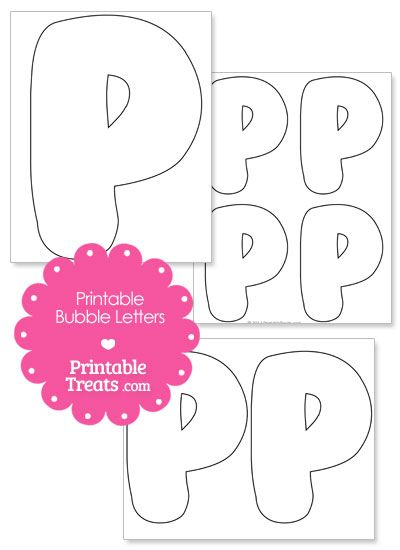 Printable Bubble Letter P Template From PrintabletreatsCom