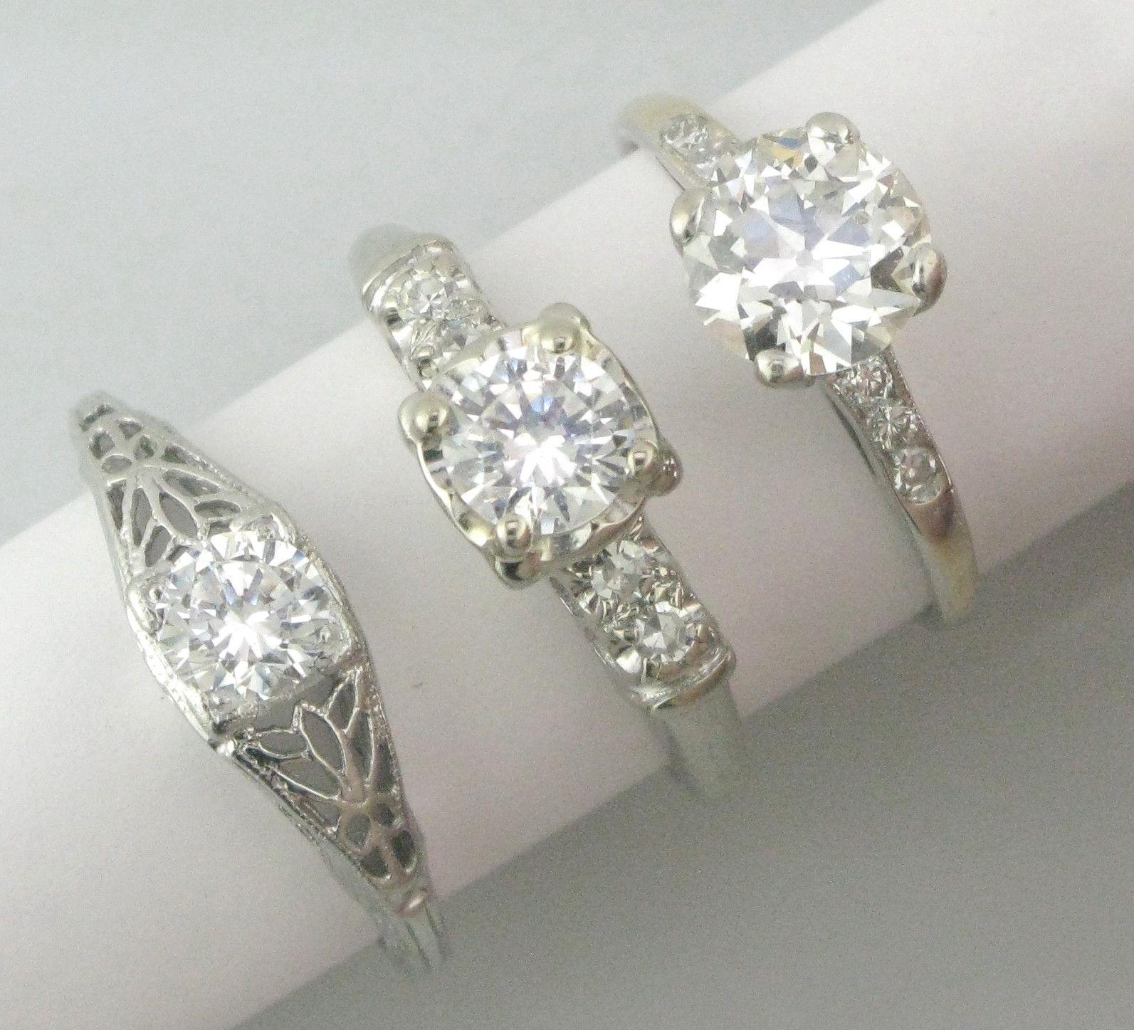 antique diamond rings Vintage Rings Pinterest