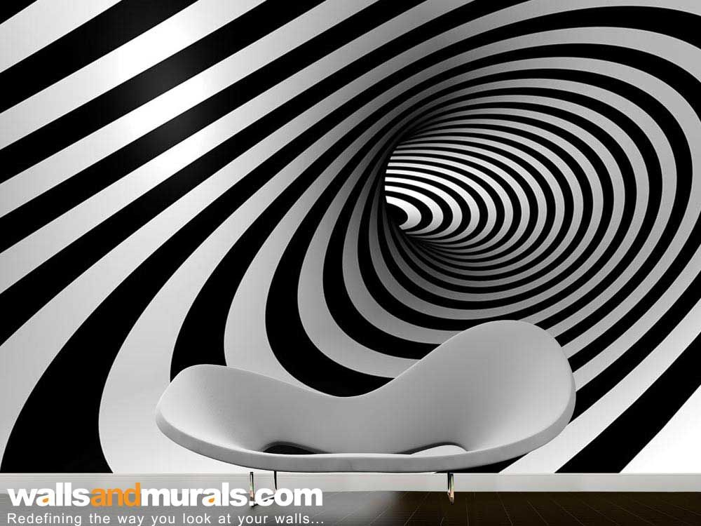 3d swirl of hope black and white wallpaper 3d wallpaper for Black and white 3d wallpaper
