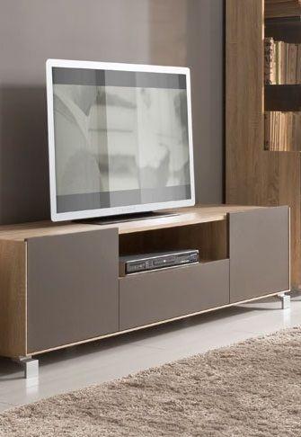 Zwart Bruine Tv Kast.Modern Eiken Tv Meubel Met Mat Bruine Fronten Meubels Modern En