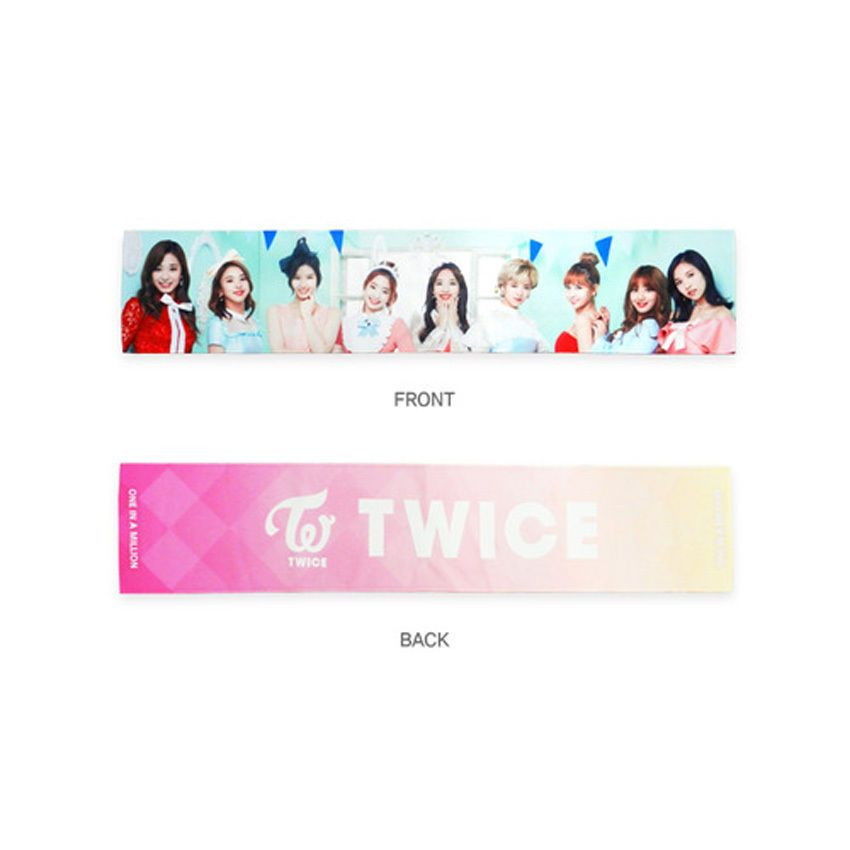 Details about Twice PHOTO CHEERING SLOGAN TOWEL 1st Tour Official
