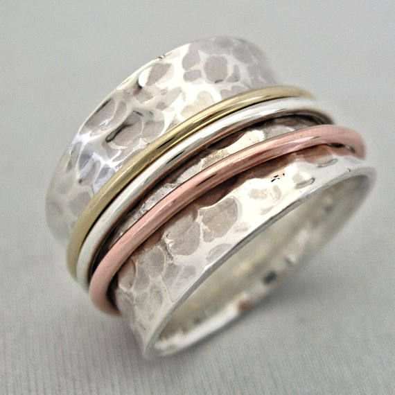 The Serenity Ring Captures Elegance Peace Calmness And Comfort Of Life In One Ring Designed By Jewellery De Serenity Ring Rings For Men Silver Spinner Rings