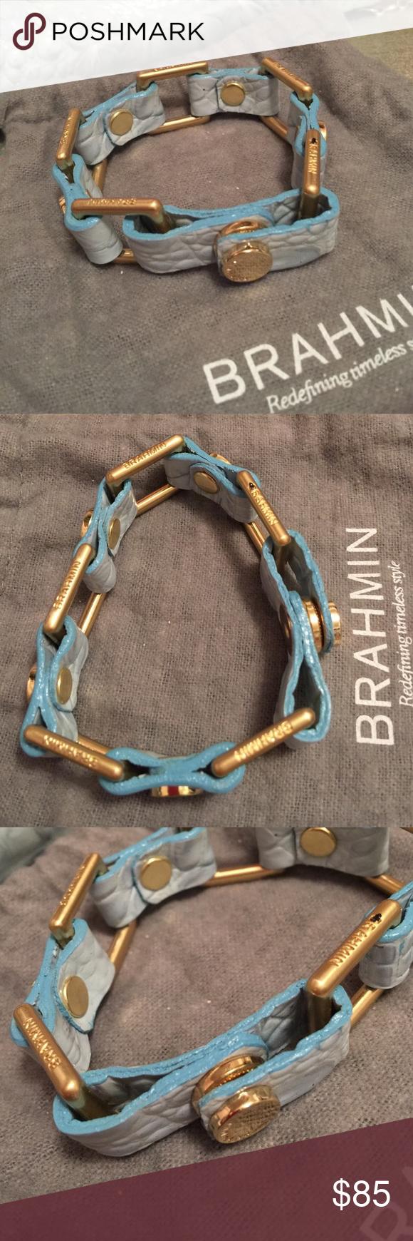 """Brahmin Baby Blue Bracelet Brahmin like new baby blue bracelet. Has original dust bag, worn once. 8"""" in diameter. Brahmin Jewelry Bracelets"""
