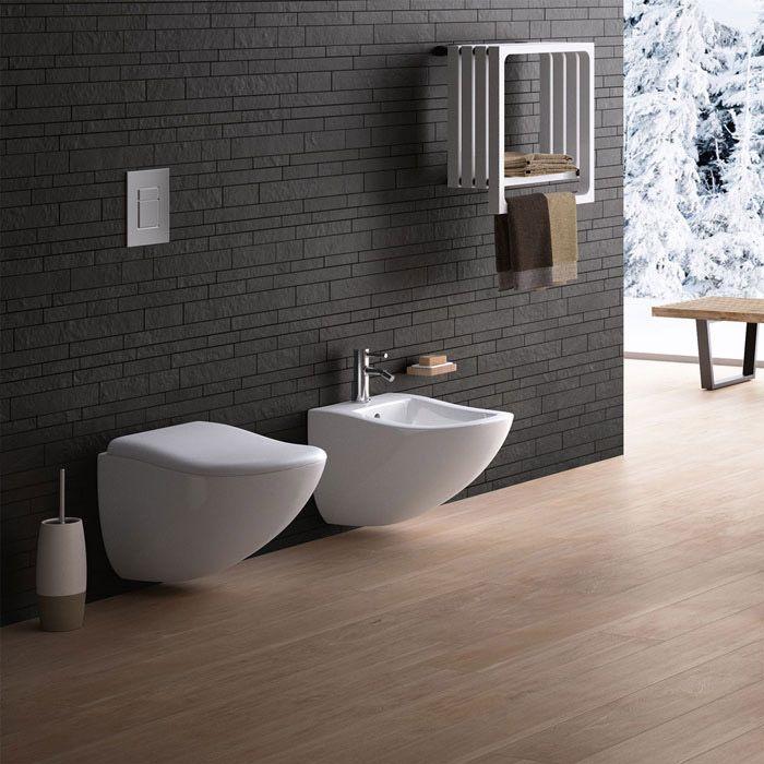 Wc e bidet Fluid  Ceramica Cielo  Sanitari  Wall hung toilet Toilet e Bathroom