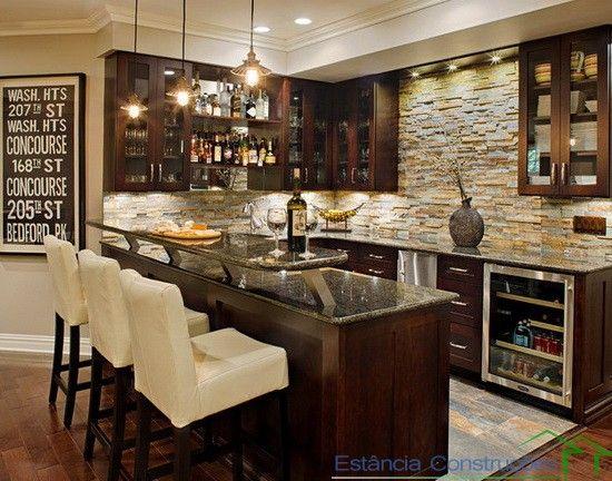 Stone Bars Inside Home Bar Casa 17 Em Ideias Modelos