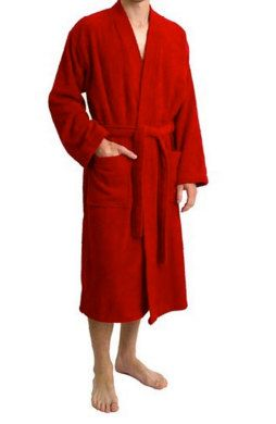 Chinese Style Red-Black Men/Women Double-Face Reversible Kimono Robe/Gown