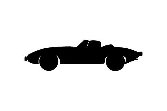Blue Classic Car (SVG Cut file) by Creative Fabrica Crafts · Creative Fabrica