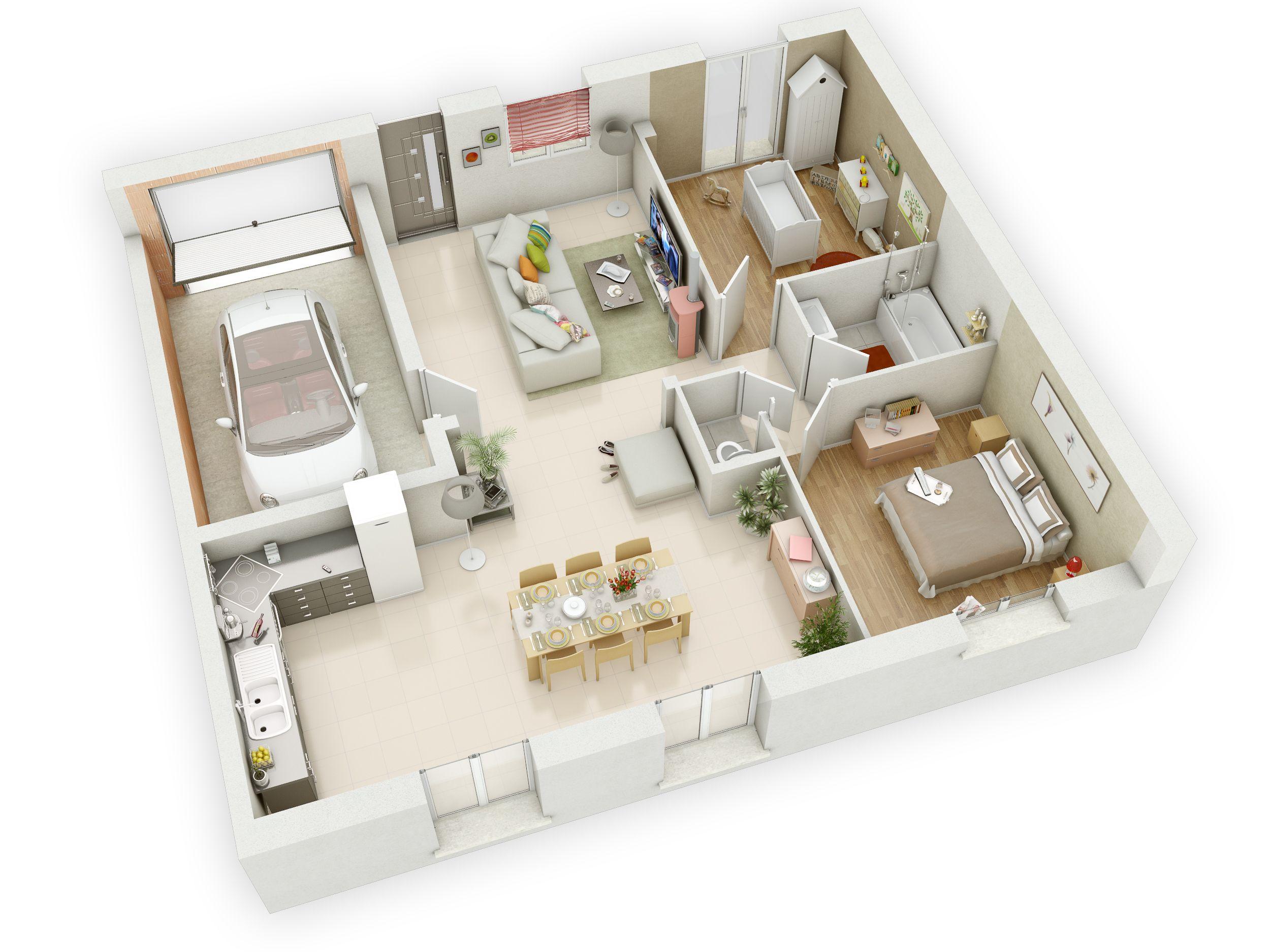 maison mikit plan maison 2 chambres