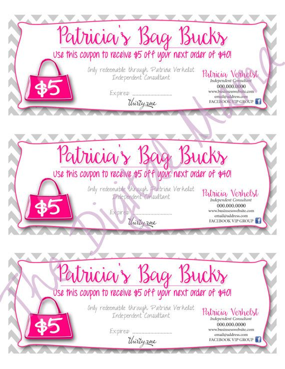Thirty-One Bag Bucks Coupon - Thirty-One Consultant Coupon - Direct ...