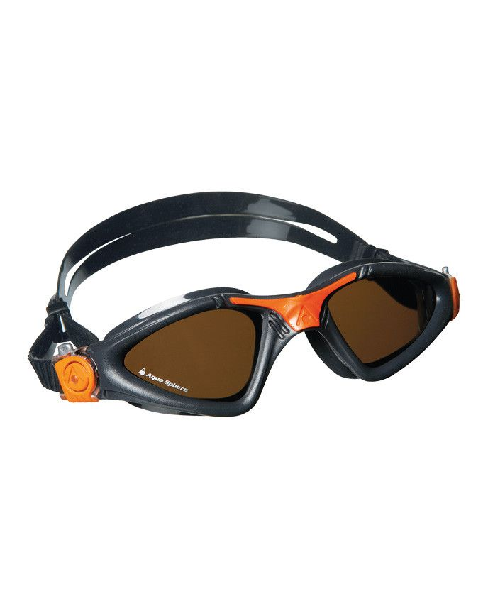 1ad2753846 Aqua Sphere - Kayenne Regular Fit Grey   Orange Swim Goggles ...