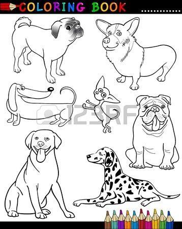 Stock Photo Dogs Dibujos Ilustraciones De Dibujos Animados Y