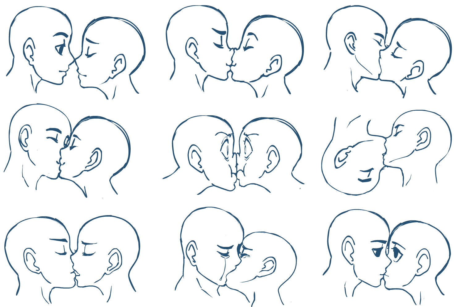 Drawing Anime Kisses