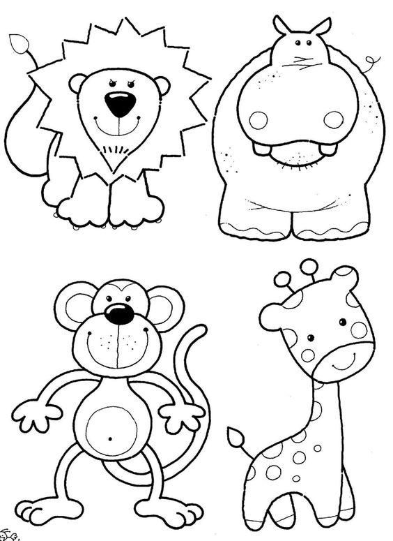 Kolay Hayvan Boyama Resimleri Ortu Desenleri Boyama Kitaplari