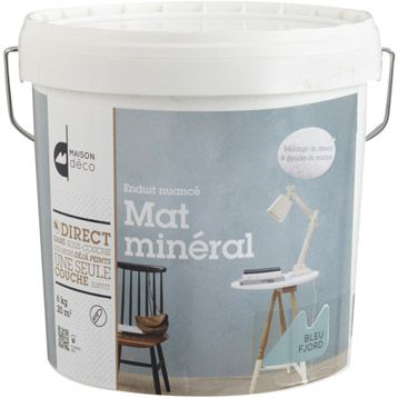 Enduit Decoratif Mat Mineral Maison Deco Bleu Fjord 6 Kg Enduit Decoratif Fjord Enduit