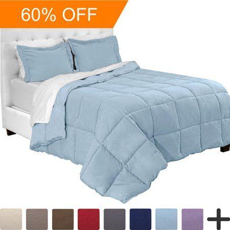 5 Piece Bed In A Bag Twin Comforter Set Light Blue Sheet Set