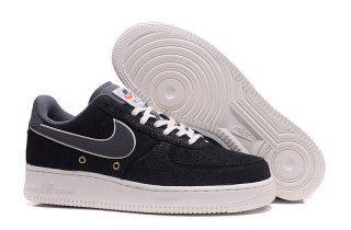 new style 3e253 c0b1f Mens Nike Air Force 1 07 LV8 Crocodile Leather Black Dark Grey 718152 018  Running Shoes