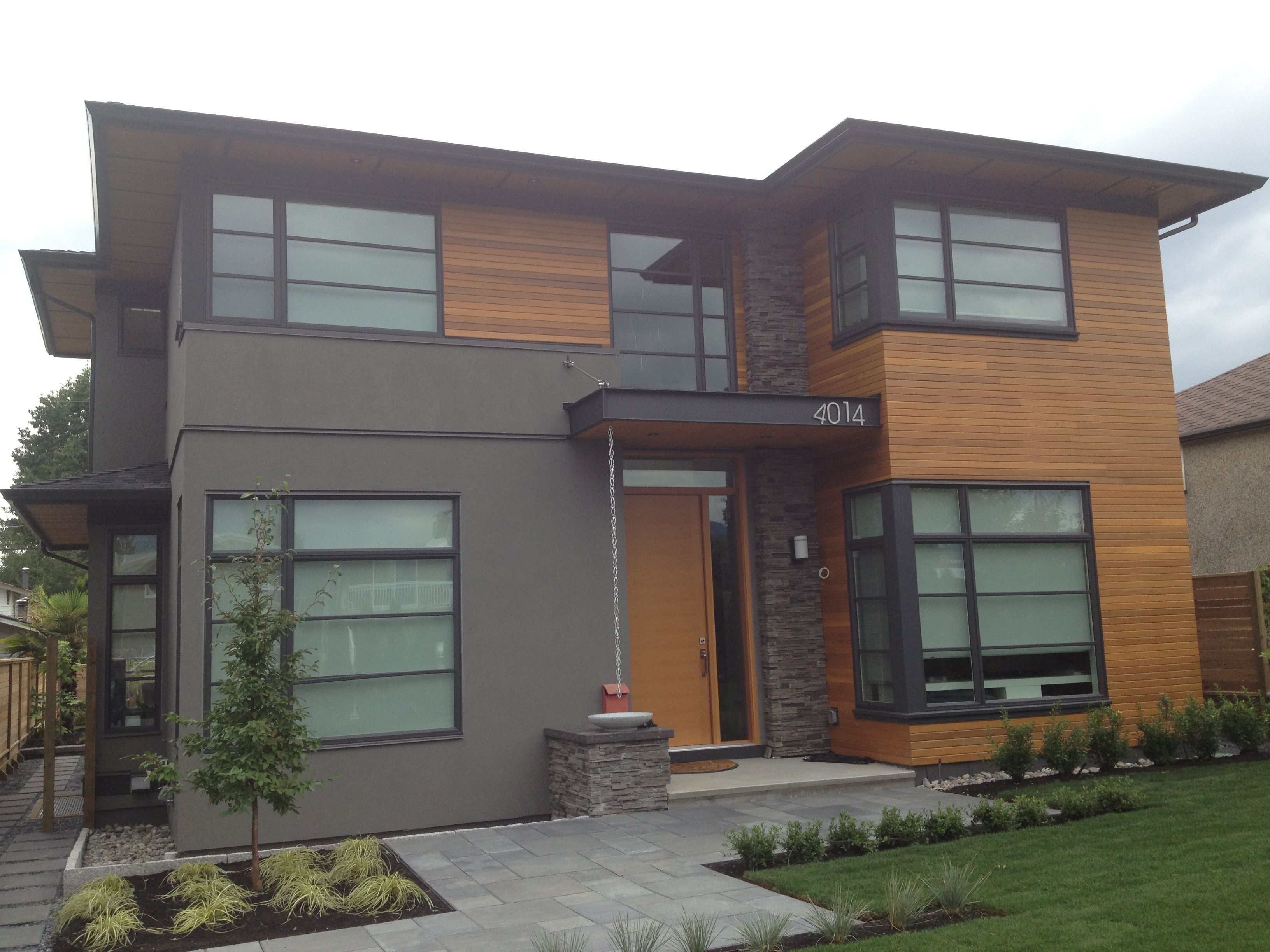 Modern home in Burnaby. | Front Exterior | Pinterest