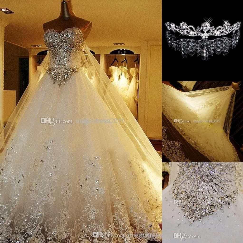 Cheap 2016 Long Sleeve Wedding Dresses With Rhinestones Crystals ...