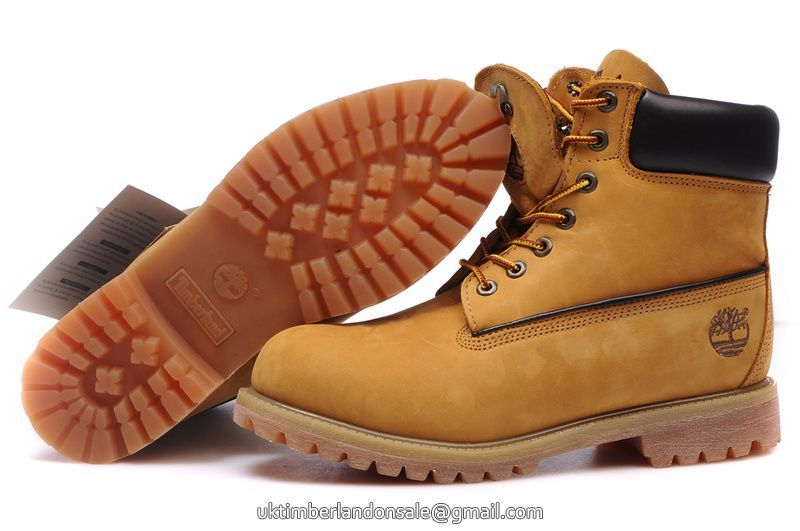 UK Timberland Fashion Wheat Nubuck 6 Inch Premium Boots For Men - 50% off.