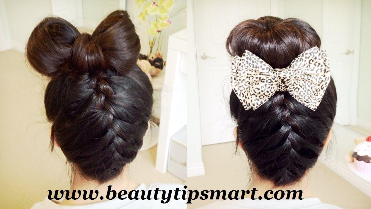 cute bow hairstyles for long hair step easily | medium hair