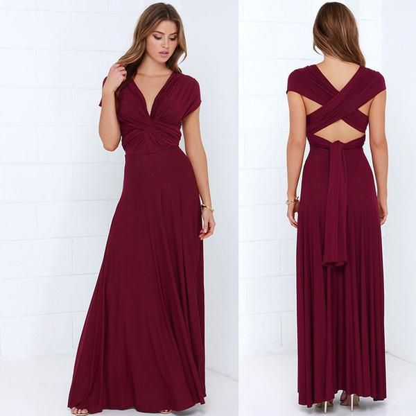 464f70a26ec Summer Sexy Multiway Bridesmaids Convertible Dress Sexy Women Wrap Maxi  Dress