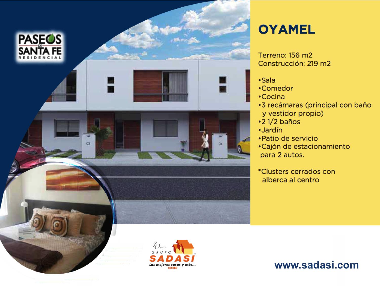 #sadasi LAS MEJORES CASAS DE MÉXICO. En Grupo Sadasi, le invitamos a conocer nuestro desarrollo PASEOS DE SANTA FÉ en Querétaro y comprar el modelo Oyamel; casa con sala,  comedor, cocina, 3 recámaras, 2 ½ baños, jardín, patio de servicio y cajón de estacionamiento para 2 autos. Le ofrecemos diversos esquemas de crédito para adquirir su nuevo hogar con nosotros. 01(800)10801080.