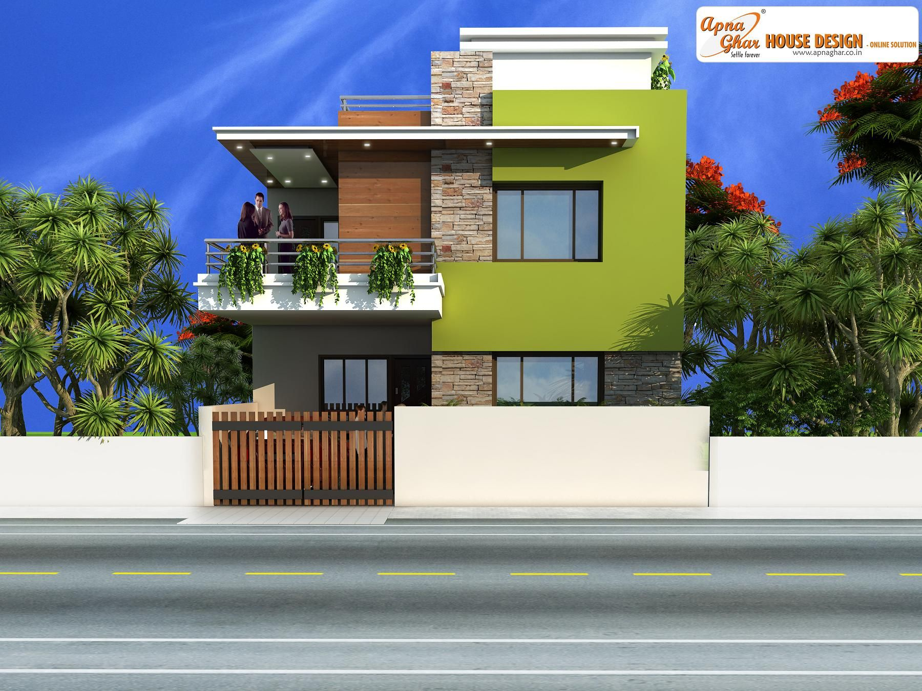 Simple duplex house design click on this link http www apnaghar co in pre design house plan ag page 63 aspx to view free floor plans naksha and other