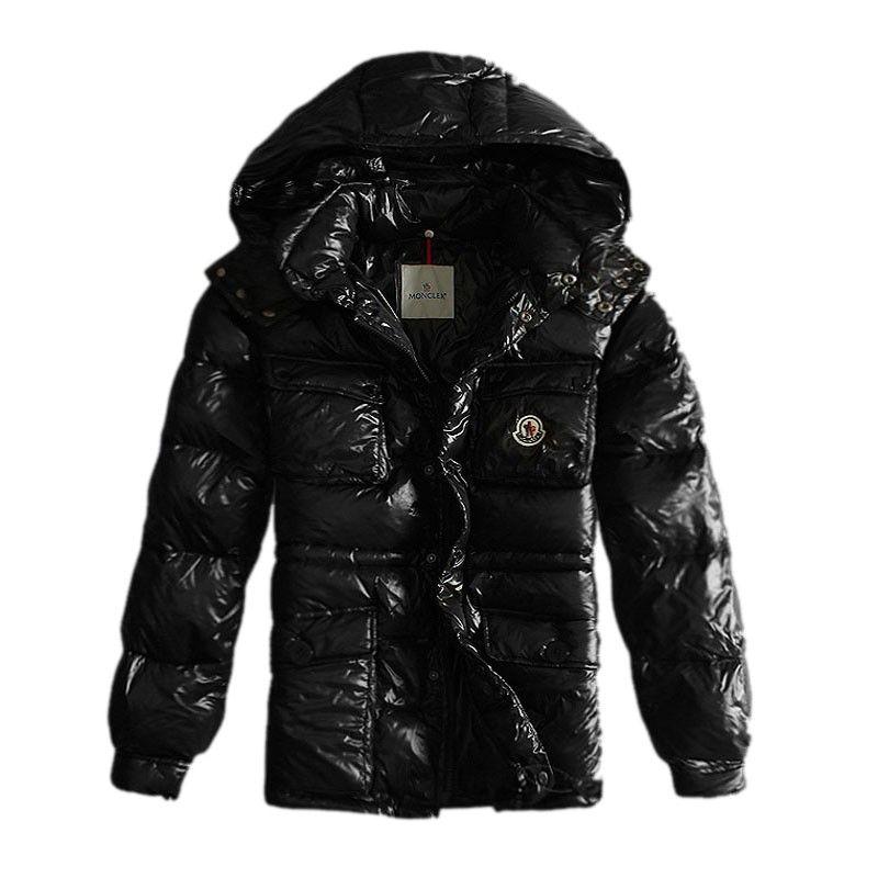 a4522d2a873e Moncler Hooded Black Jacket Men Store On Sale Moncler Jackets Men to ...