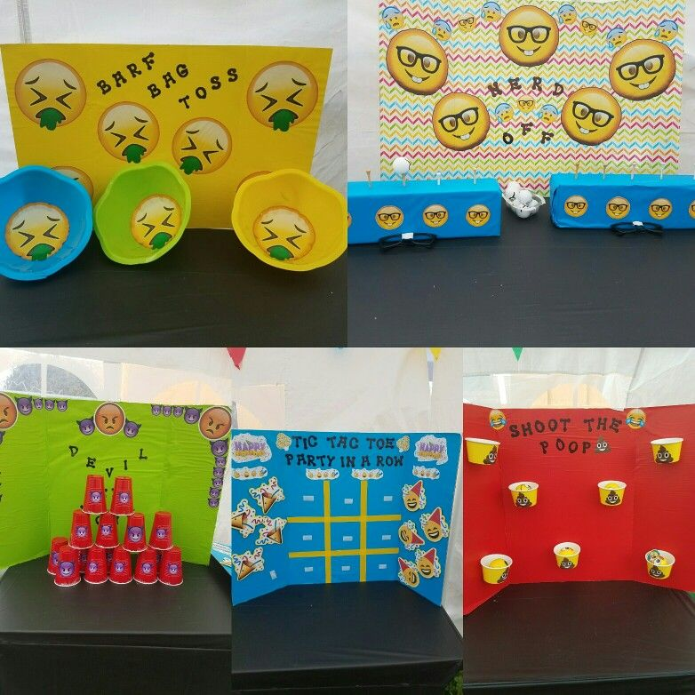 Emoji Themed Carnival Style Games 12th Birthday 9th Parties Diy