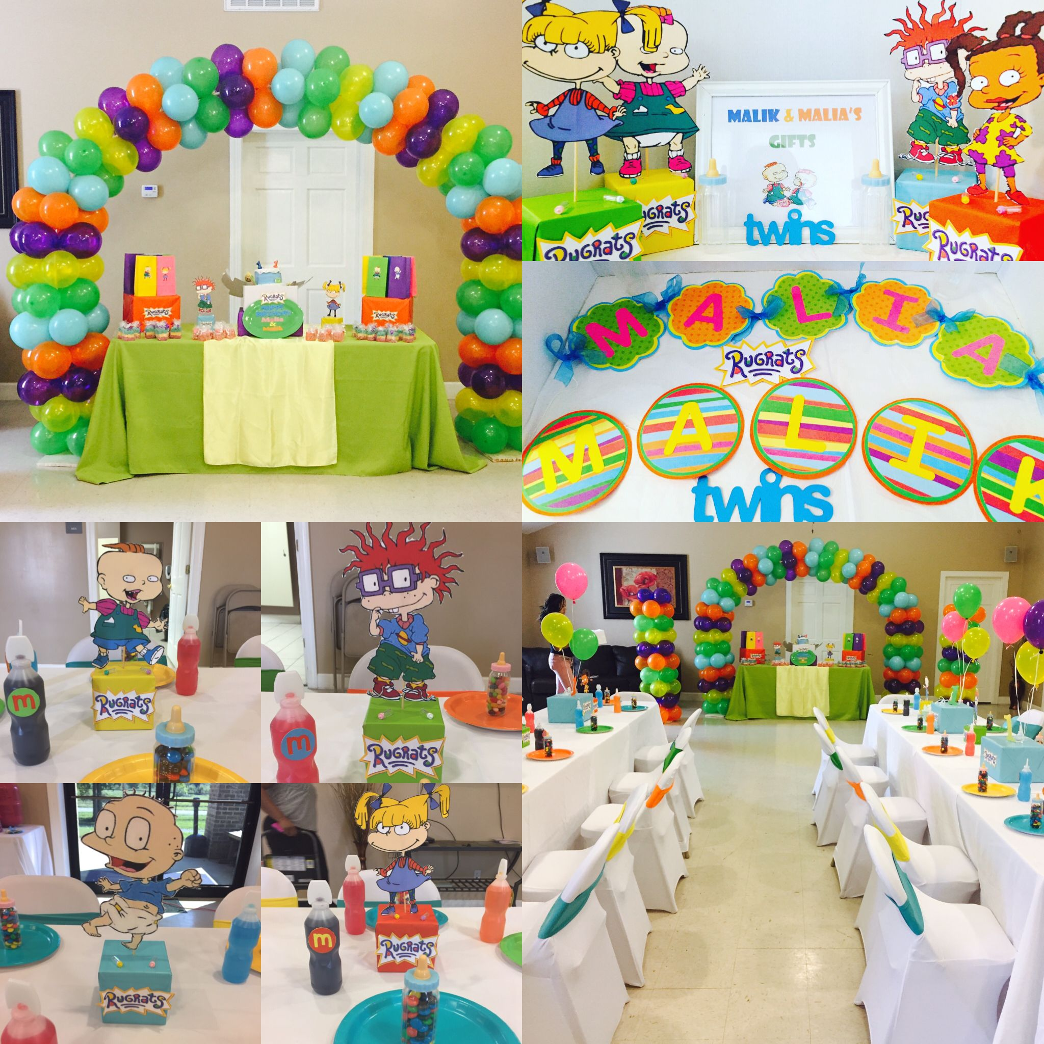 Rugrats Themed Birthday Party I Decorated For Twins First Birthday