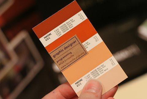 This business card for aiga knoxville might be my favorite pantone this business card for aiga knoxville might be my favorite pantone cards are an every day item in a graphic designers life so using old pantone cards for reheart Images