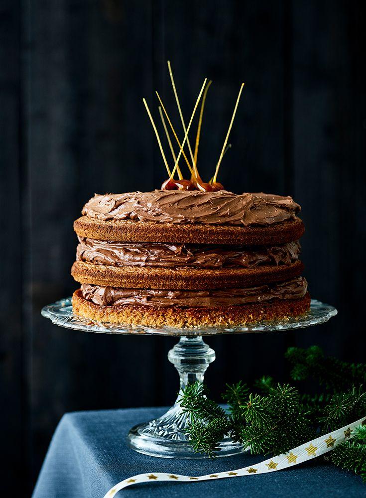Gâteau au chocolat et noisettes caramélisées Desserts