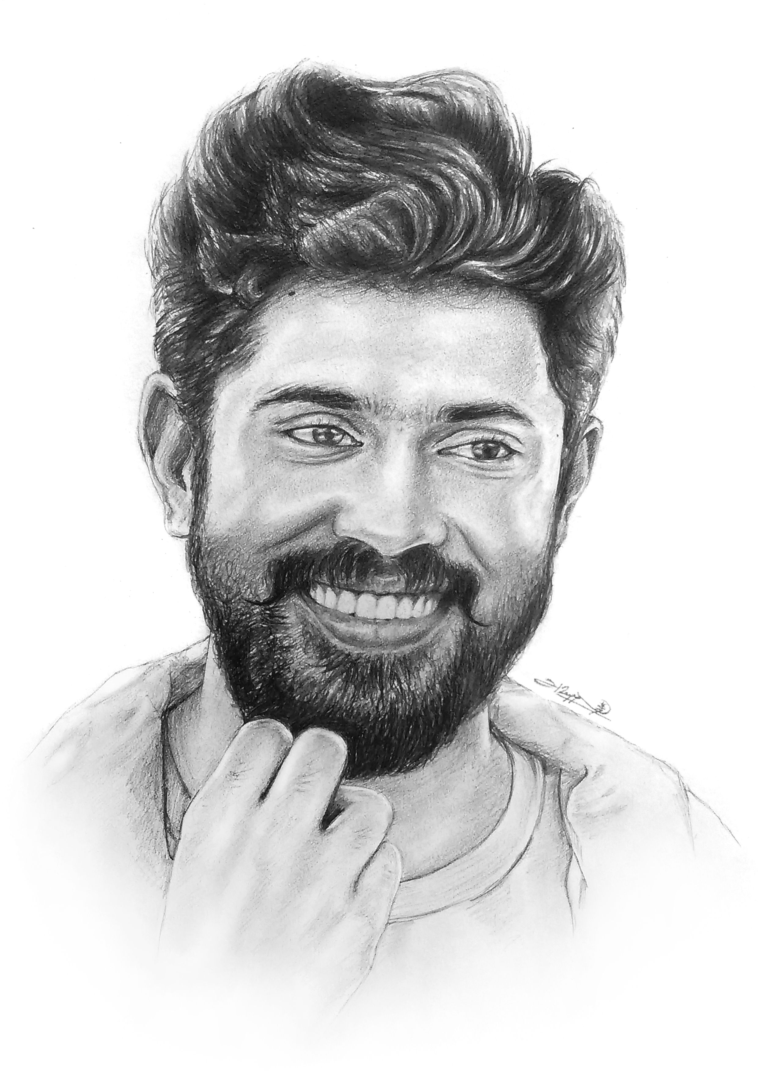 Portrait of Actor Nivin Pauly Sketches Pinterest