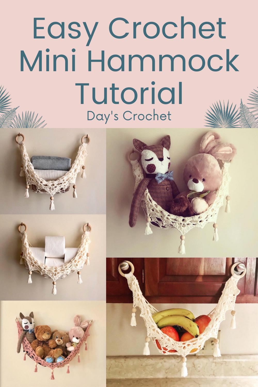 Photo of Easy Crochet Mini Hammock Free Tutorial Modern and Functional