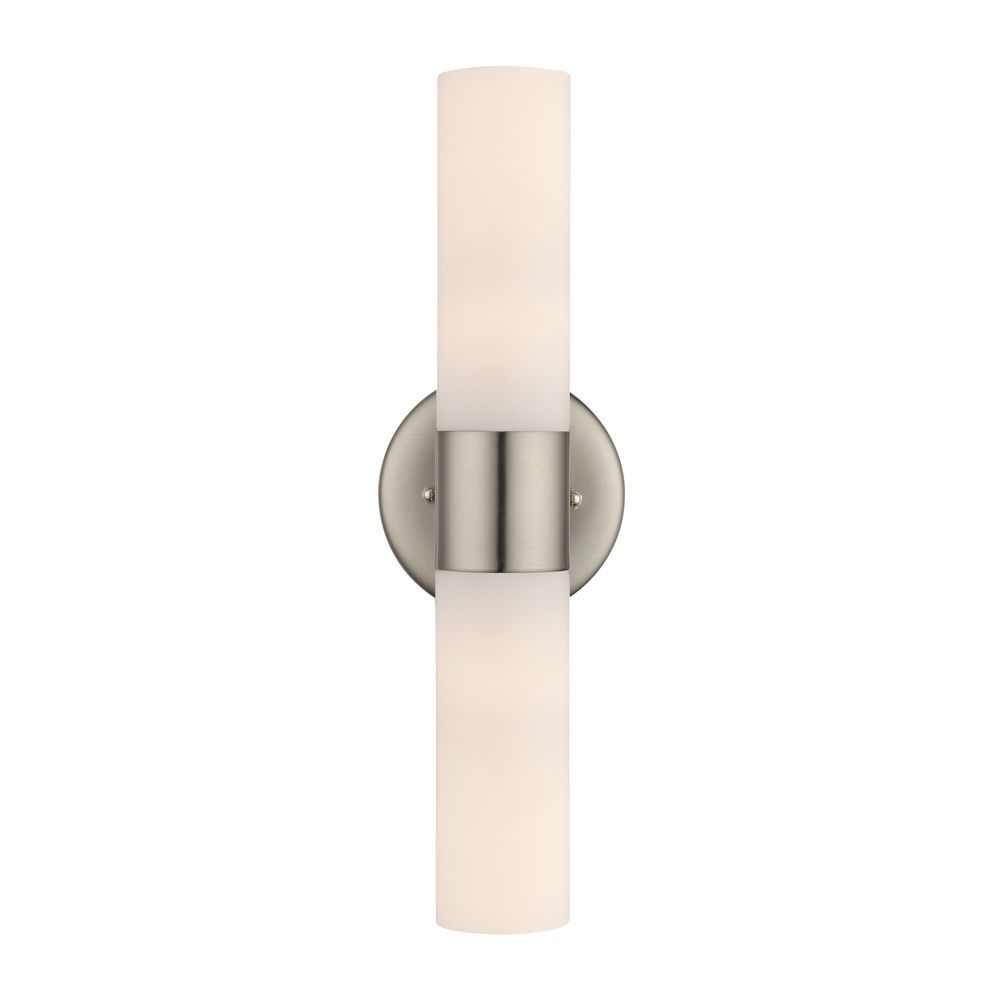Master Bath Idea Destination Lighting Vertical Bathroom Wall Light With Cylinder White Gl Shade