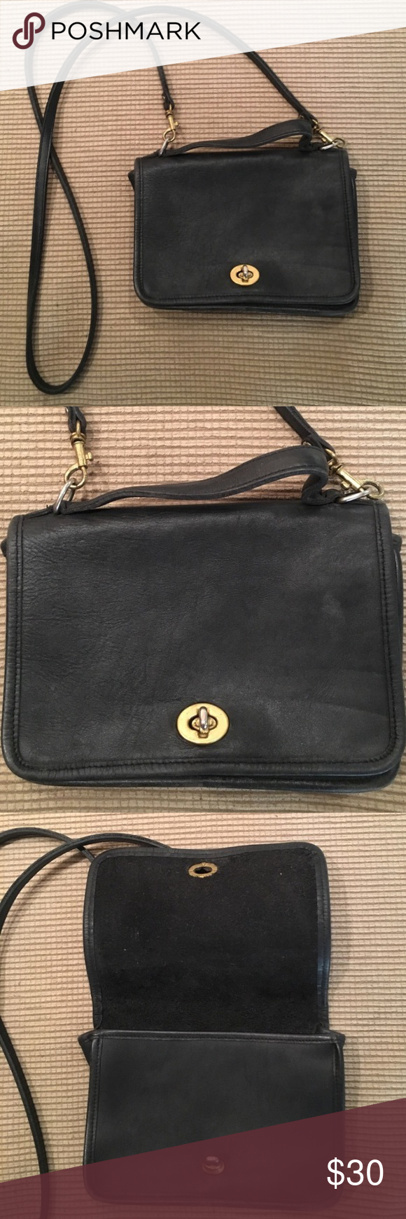 Small Black Coach Crossbody Bag For Tall Las Vintage Tiny Purse Reposh Because The Strap Is Too Long Me I Am 5 3