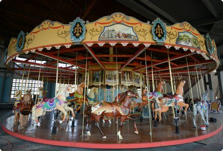 Pottstown PA Carousel, New carvings with a foundation built in 1905, the Pottstown carousel is the ninth of 94 manufactured by the Philadelphia Toboggan Co. between 1904 and 1941. (Read history) ...
