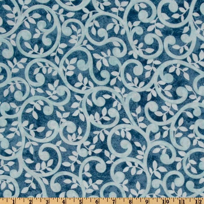 """Normandy Court 108"""" Quilt Backing Scrolling Vines Light"""