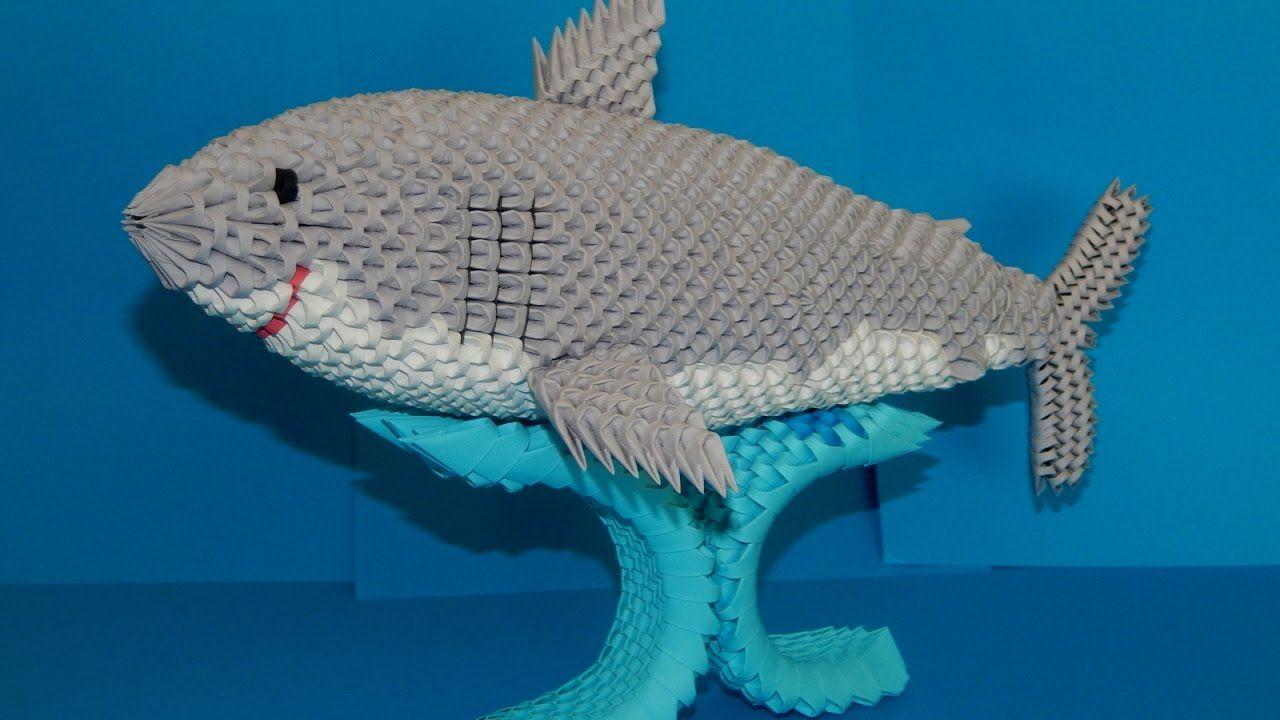 3d origami Shark tutorial part1