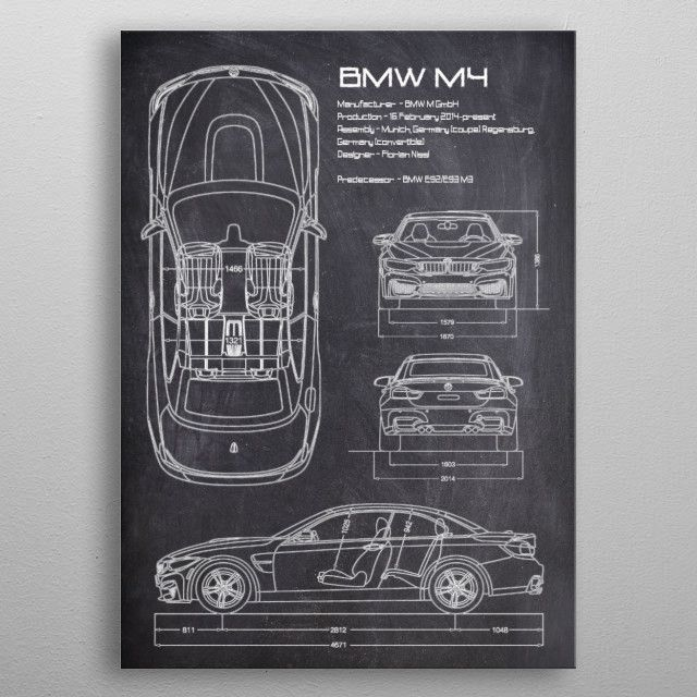 The BMW M4 is a high-performance version of the BMW 4 Series automobile developed…   Displate thumbnail