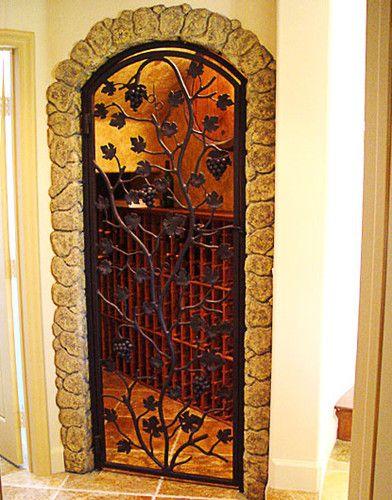 puerta para bodega de vinos